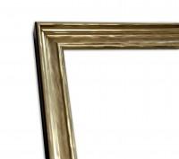 Industrial Chic Rahmenleiste schmal in Gold leichte Patinierung