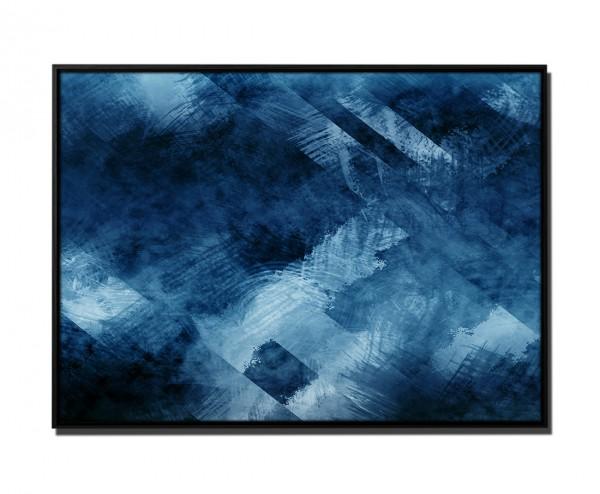 105x75cm Leinwandbild Petrol Abstrakt Mosaik III