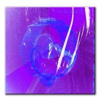 Blaue Tiefe, abstrakt, 60x60cm