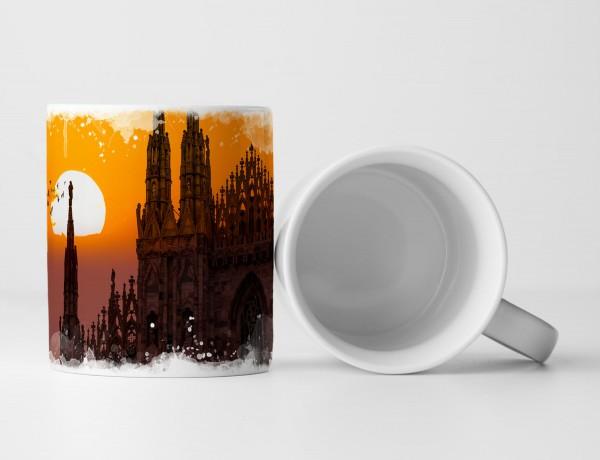 Tasse Geschenk Dom – Mailand Sonnenuntergang
