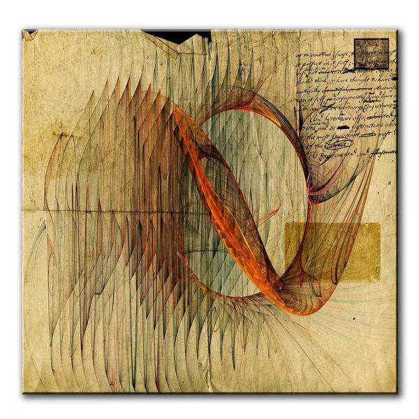 Wellenreiter, abstrakt, 60x60cm