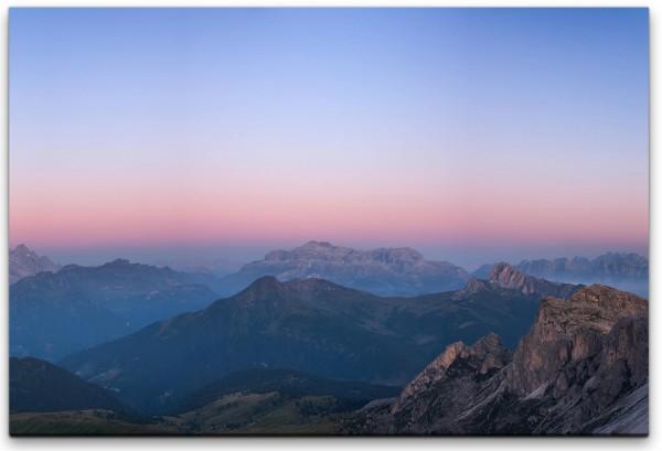 Dämmerung in den Dolomiten Wandbild in verschiedenen Größen