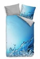 Wasserspritzer Blau Hintergrund Abstrakt Bettwäsche Set 135x200 cm + 80x80cm  Atmungsaktiv