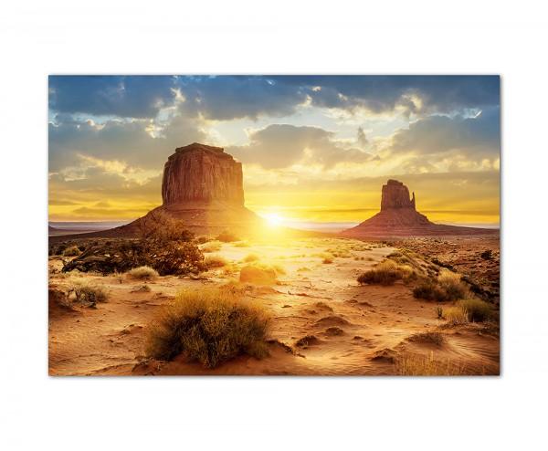 120x60cm Landschaft Amerika Sonnenuntergang Felsen