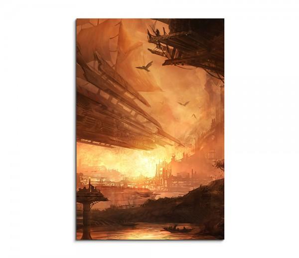 Stunning Spaceship Fantasy Art 90x60cm