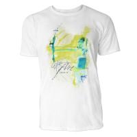 Bogenschießen seitlich Sinus Art ® T-Shirt Crewneck Tee with Frontartwork