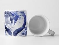 Swan Love Tasse als Geschenk,  Design Sinus Art