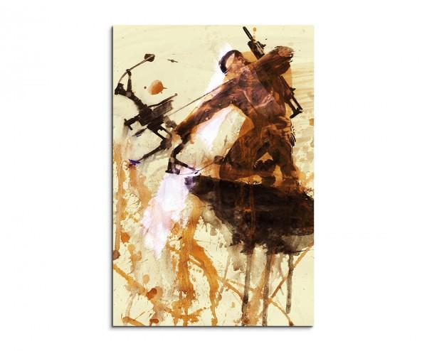 Crysis 3 90x60cm  Aquarell Art Leinwandbild