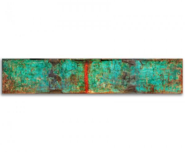 "Wandbild Gemälde ""Devisavous"" 200x40cm"