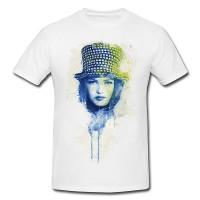 Vanessa Paradis VI Premium Herren und Damen T-Shirt Motiv aus Paul Sinus Aquarell