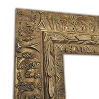 Exklusiver Echtholzrahmen in silber mit Ornamentik