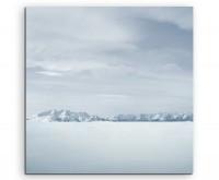 Landschaftsfotografie – Weiße Winterlandschaft auf Leinwand