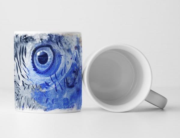 Papagei Tasse als Geschenk, Design Sinus Art