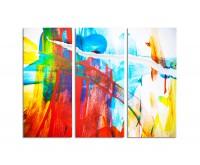130x90cm gemaltes Bild farbenfroh bunt