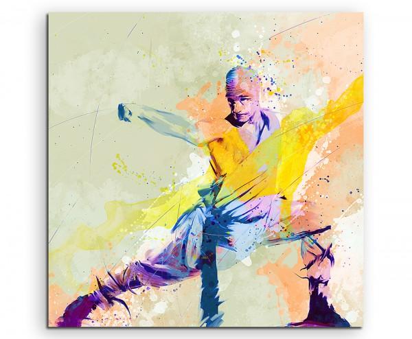 Kung Fu I 60x60cm Aquarell Art Leinwandbild
