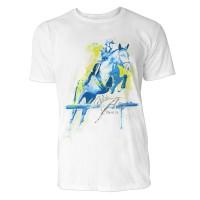 Pferdesport frontal Sinus Art ® T-Shirt Crewneck Tee with Frontartwork