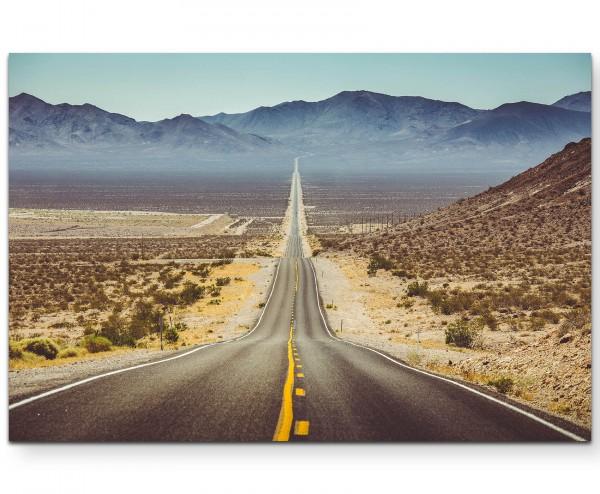 Panoramablick über Straße im Südwesten der USA - Leinwandbild