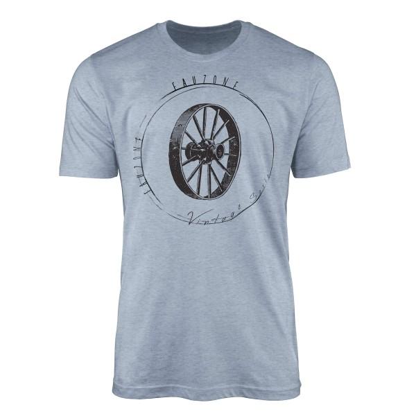 Vintage Herren T-Shirt Holzrad