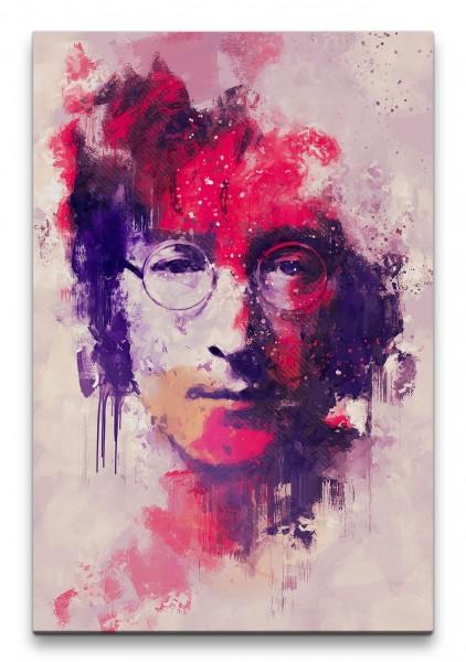 Lennon Porträt Abstrakt Kunst Musiklegende 60x90cm Leinwandbild