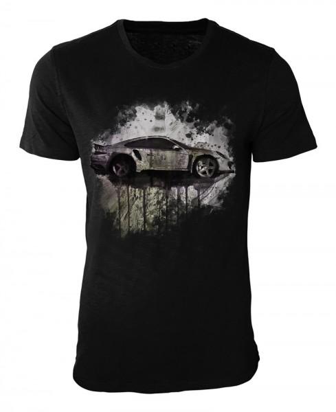 Stinger Porsche 991 II Damen und Herren T-Shirt schwarz / black