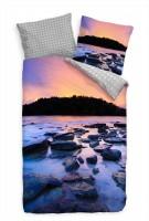 Strand Thailand Sonnenuntergang Blau Bettwäsche Set 135x200 cm + 80x80cm  Atmungsaktiv