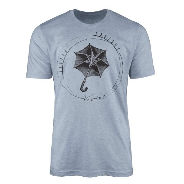 Vintage Herren T-Shirt Regenschirm