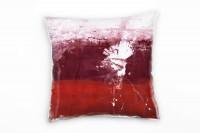 Couch Sofa Lounge Zierkissen in 40x40cm Kaminrot Rubinrot Weiß