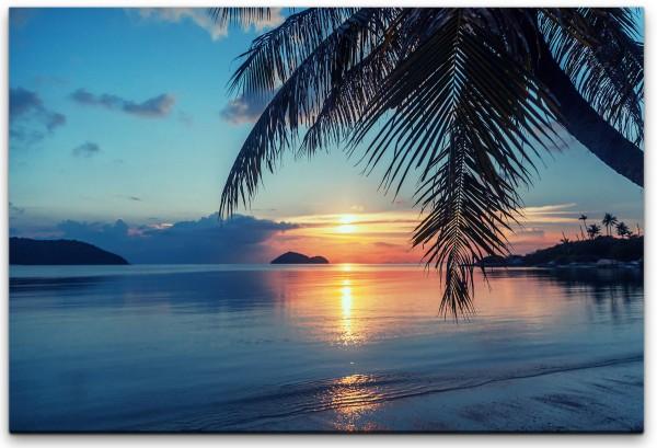 schöner Sonnenuntergang Wandbild in verschiedenen Größen