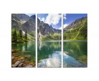 130x90cm Tatragebirge Polen See Berge