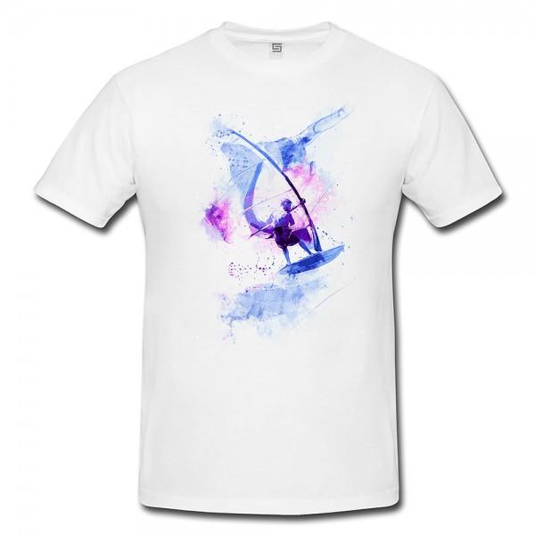 Windsurfer I  Herren und Damen T-Shirt Sport Motiv aus Paul Sinus Aquarell