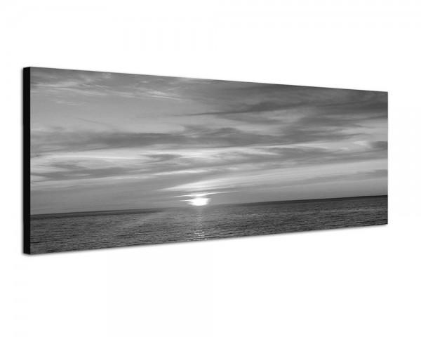 150x50cm Meer Wolken Horizont Sonnenuntergang