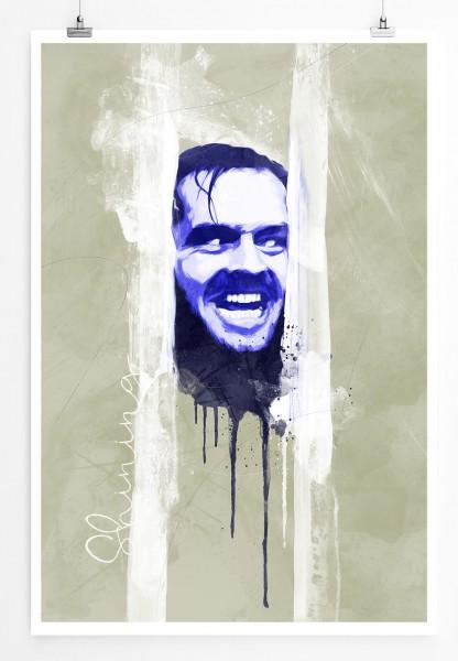 Shining 90x60cm Paul Sinus Art Splash Art Wandbild als Poster ohne Rahmen gerollt