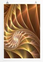 60x90cm Digitale Grafik Poster Muschelspirale