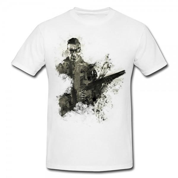 Arnold Schwarzenegger Terminato Premium Herren und Damen T-Shirt Motiv aus Paul Sinus Aquarell
