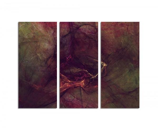 130x90cm Wandbild Abstrakt173 -3x90x40cm