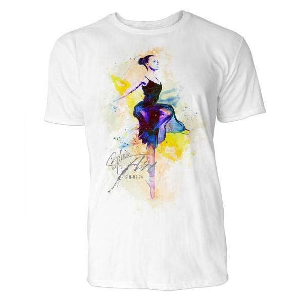 Ballerina Pirouette  Sinus Art ® T-Shirt Crewneck Tee with Frontartwork