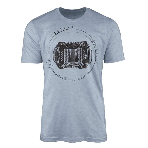 Vintage Herren T-Shirt Ziehharmonika