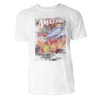 Amazing Stories Herren T-Shirts in Karibik blau Cooles Fun Shirt mit tollen Aufdruck
