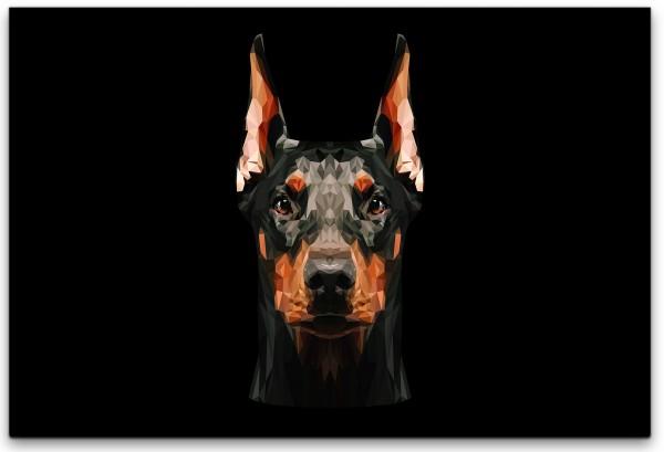 Dobermann Hund Wandbild in verschiedenen Größen