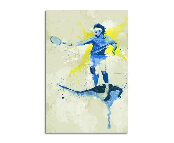 Tennis IV 90x60cm SPORTBILDER Paul Sinus Art Splash Art Wandbild Aquarell Art