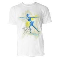Eiskunstlauf Ausfallschritt Sinus Art ® T-Shirt Crewneck Tee with Frontartwork