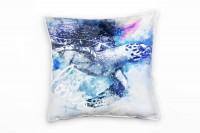 Sea Turtle I Deko Kissen Bezug 40x40cm für Couch Sofa Lounge Zierkissen
