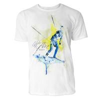 Biathlon Skilangläufer Sinus Art ® T-Shirt Crewneck Tee with Frontartwork