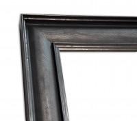 Industrial Chic Rahmenleiste geprägte Oberfläche in Zinnoptik