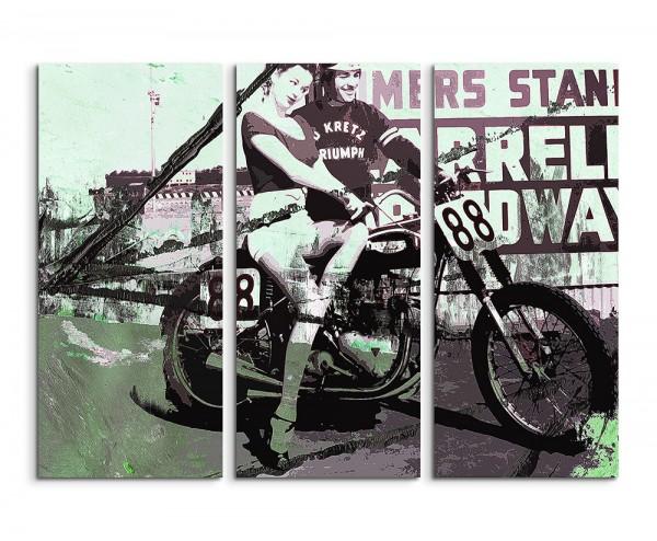 130x90cm Wandbild Abstrakt 512 -3x90x40cm