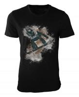 Snowboarding Damen und Herren T-Shirt schwarz / black