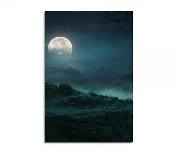 Full Moon In The Forest Fantasy Art 90x60cm