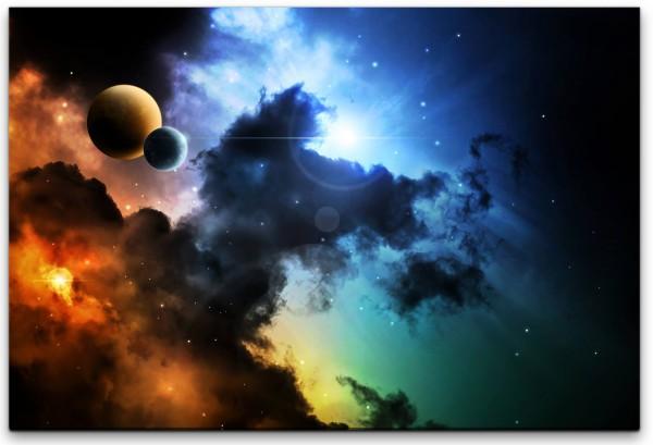 Weltall und Planeten Wandbild in verschiedenen Größen