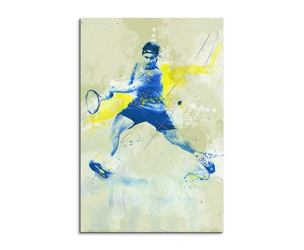 Tennis II 90x60cm SPORTBILDER Paul Sinus Art Splash Art Wandbild Aquarell Art