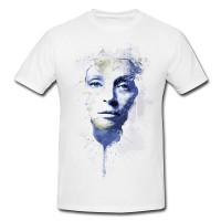 Uma Thurman I Premium Herren und Damen T-Shirt Motiv aus Paul Sinus Aquarell